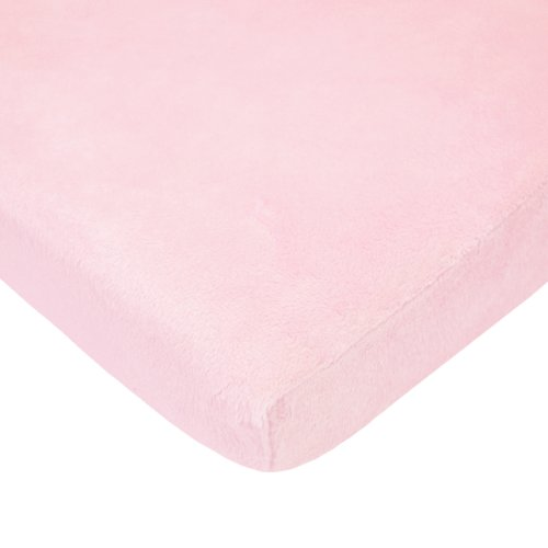 American Baby Company Heavenly Soft chenille Fitted Pack N Play playard Sheet, Pink, 27 X 39 by American Baby Company