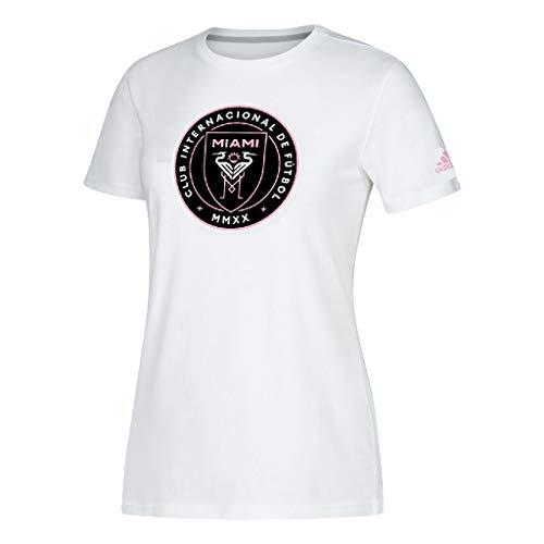 adidas Damen Teamlogo Inter Miami CF T-Shirt, Damen, weiß, XX-Large