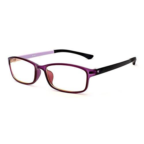 Nerdbrille mit Flexibel Rahmen Forepin® Rechteckig Retro Ohne Stärke Brille Klare Linse Glaeser für Unisex Damen und Herren