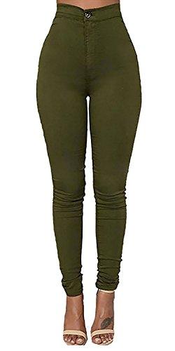 LooBoo Cintura Alta Pantalones Jeans Mujer Elástico Flacos Vaqueros Leggings Push up Mezclilla...