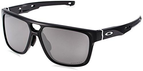 Oakley Men's Crossrange Patch (a) Non-Polarized Iridium Rectangular Sunglasses, Matte Black, 60.0 mm