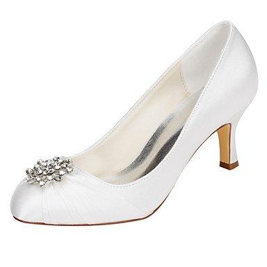 Rtry Femmes Chaussures De Mariage Pompe Base Satin Stretch Printemps Automne Fête De Mariage & Amp; Soirée Pompe Base Cristal Stiletto Talon Ivoire 2a-2 3 / 4in Ivoire Us9 / Eu40 / Uk7 / Cn41 Us9.5-10 / Eu41 / Uk7.5-8 / Cn42