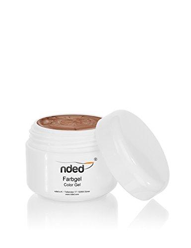 Gel couleur EDITION NDED, Grain of Sand, moyenne viscosité, brun, adapté UV, sans acide