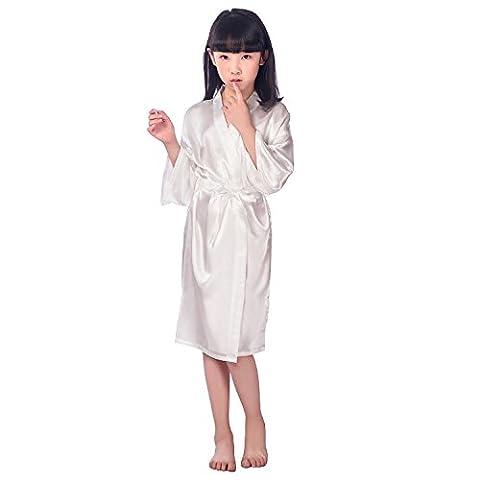 GL&G La nouvelle robe de soie chemise de nuit pour enfants mince cardigan pyjama de haute qualité confortable robe kimono