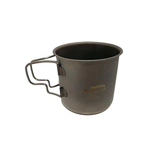 AMG Titan zusammenklappbar Tasse 8,45Unze 250ml Trinkwasser Kaffee Tee Camping Outdoor Rucksackreisen Wandern (700 Snow Peak)