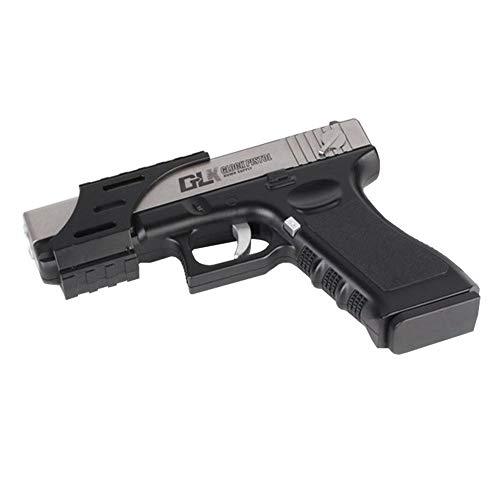 AngryMan Adultos Plástico Mini Edición Manual de Glock Juguetes Pistola de Agua de Juguete de acción en Vivo, l7-8mm Balas de Cristal de Agua 7.9 Pulgadas (Longitud)