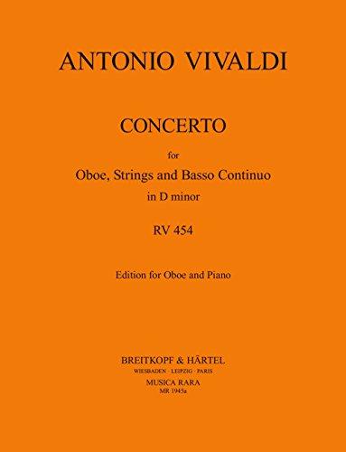 Concerto in d rv 454 hautbois por Antonio Vivaldi