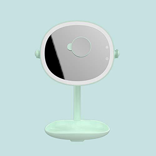Spiegellampen,Led Kosmetikspiegel Tischlampe Multifunktions Mit 5-Fach Detail Lupe Usb Lade Kommode...