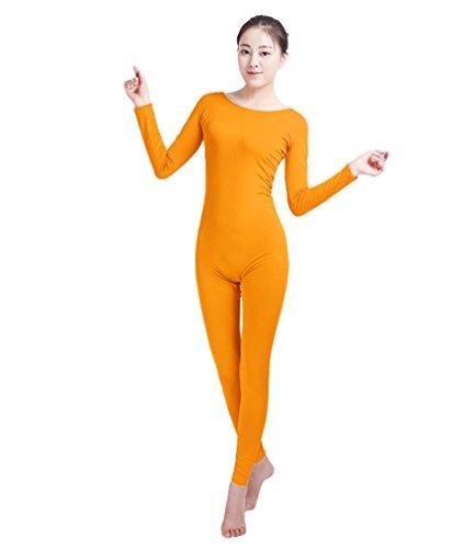 NiSeng Erwachsener und Kind Zentai Ganzkörperanzug Kostüm Ganzkörperanzug Fasching Bodysuit Kostüm Orange M