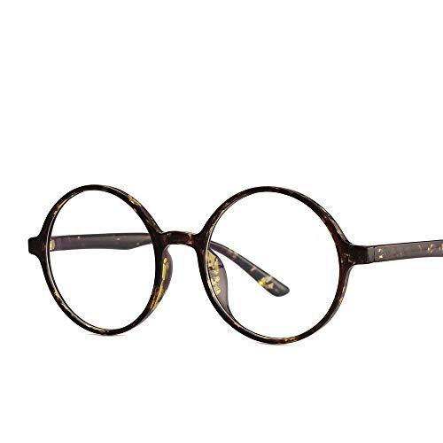 AdorabFrames Gläser retro flacher Spiegel runder Rahmen Brillengestell Brillengestell Unisex grüne Flussblume