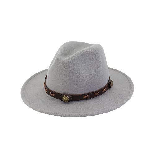 KFEK Explosion Gürtel Damen schwarzen Hut Wollmütze flach, große Jazz Hut A4