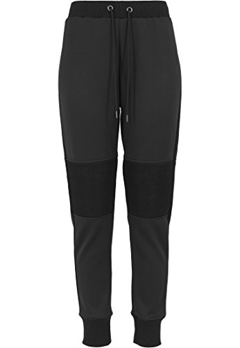 Urban Classics - Pullover Scuba Mesh Jogging Pants, Felpa Donna, Nero (Schwarz), Large (Taglia Produttore: Large)