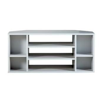 suki meuble tv d 39 angle blanc high tech. Black Bedroom Furniture Sets. Home Design Ideas