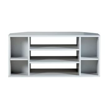 suki meuble tv d 39 angle blanc high tech. Black Bedroom Furniture Sets. Home Design Ideas