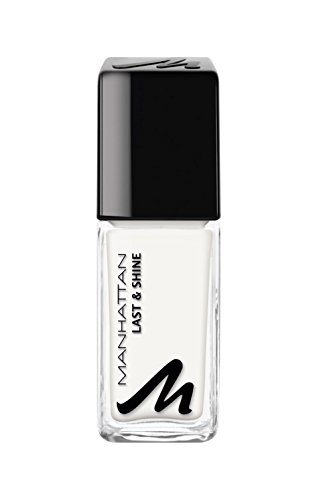 Manhattan Nagellack mit langanhaltendem Farbglanz, 010 Paint it White, weiß, 10 ml