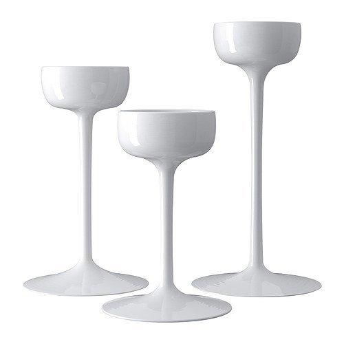 BLOMSTER IKEA-Kerzenhalter, Weiß, 3 Stück