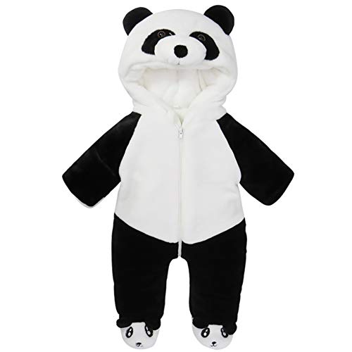 Panda Outfit - G-Kids Baby Winter Fleece Overall Jumpsuit
