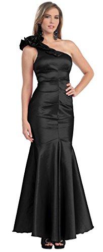 One-Shoulder-Kleid Abendkleider lang Abi-Ballkleider Meerjungfrau-Kleid Mermaid Abschlusskleid...