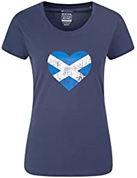 Mountain Warehouse Scottish Heart Womens Tee - Fast Dry Top, Breathable Ladies Tee Shirt, Lightweight Summer Tshirt, Quality Print, Funny Tee -for Travelling, Gym, Sports