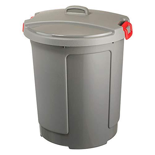 BRB 75 Liter Kunststofftonne, grau - mit Deckel, frostsicher bis -20°C