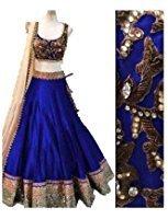ultrasav Women\'s Benglory Silk Lehenga Choli (msf024 _Blue _Free Size)