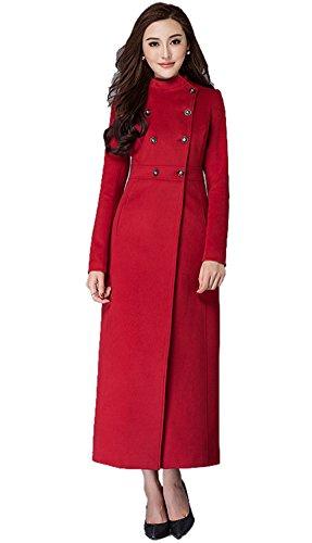 Insun Damen Trenchcoat Mantel Gr. 34, (Mantel Floor Length Roten)