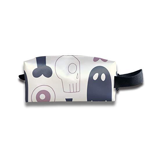 Alle Dinge Halloween Dark Grey_12114 Tragbare Reise Make-up Kosmetiktaschen Organizer Multifunktions Tasche Taschen für Unisex