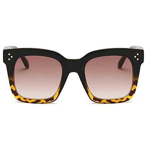 YLNJYJ Kim Kardashian Sonnenbrille Lady Flat Top Eyewear Lunette Femme Damen Luxury Brand Sonnenbrille Damen Rivet Sun Glasse Uv400
