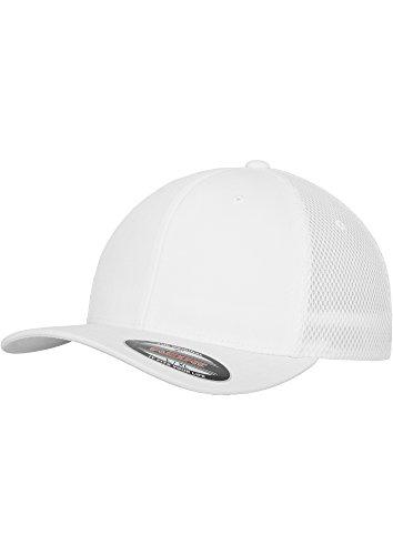 Tactel Flex-cap (FLEXFIT - Tactel Mesh Cap (white) Large / X-Large,White)