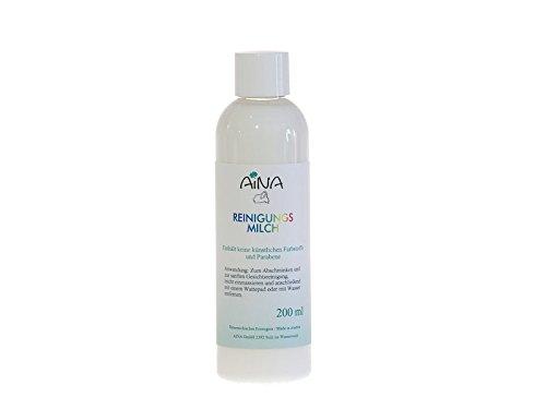AINA Reinigungsmilch 200 ml Flasche mit Lanolin und Kamillenwirkstoff