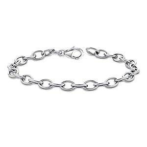 11-22cm Rolo Armband für Charm oder Anhänger 925 Echt Silber Damen Kinder Mädchen Baby