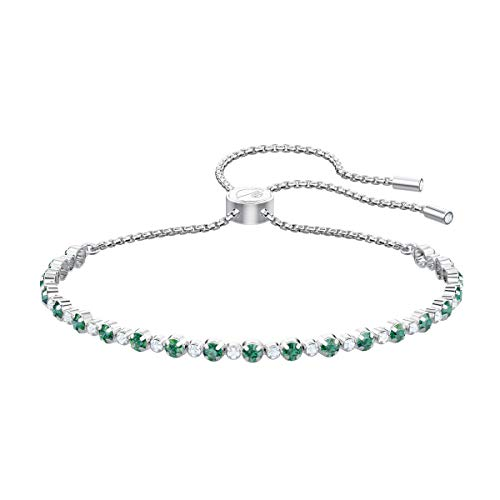 Imagen de swarovski 5465355 brazalete para mujer de acero inoxidable, verde