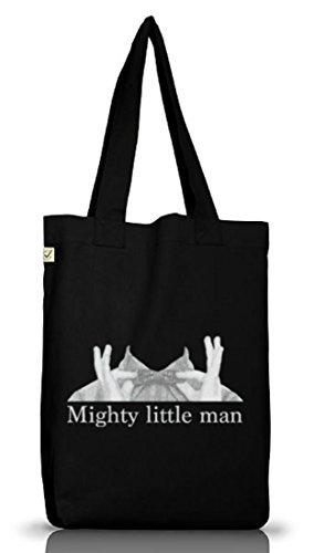 Jutebeutel Tasche Mighty little man Geschenkidee Genie Mathe Physik Student Uni Schule Lehrer Black