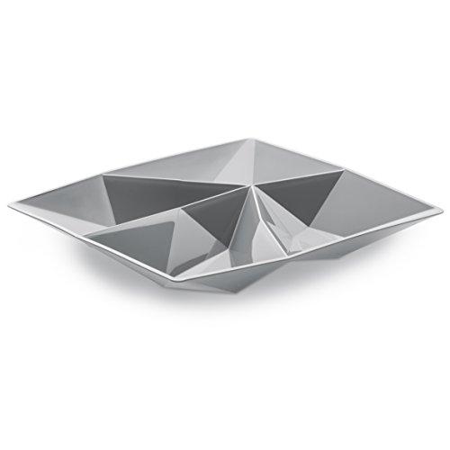 Koziol 3659632 Kant Coupelle Amuse-Gueule Plastique Gris 19,1 x 19,1 x 2 cm