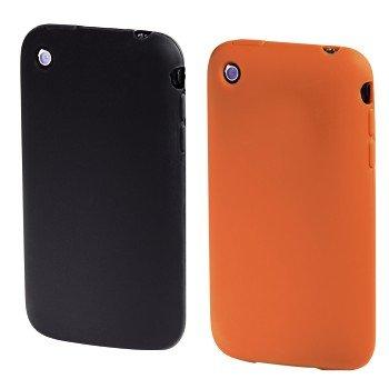 Hama Silikon hülle für Apple iPhone 3G/3GS schwarz/orange Apple Iphone 3g