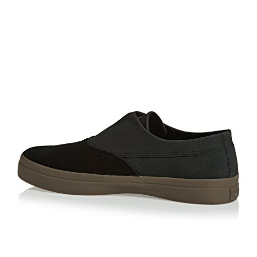 HUF Dylan Slip On. Black/Dark Gum. Black/Dark Gum