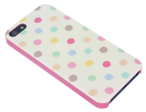Trendz Hard Shell Schutzhülle Clip-On Case Cover für iPhone 4/4S - London Silhouettes Vintage Polka Dots