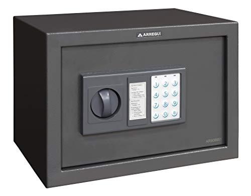 Arregui T20EB Caja fuerte de sobreponer electrónica 310 x 200 x 200 mm, Gris oscuro
