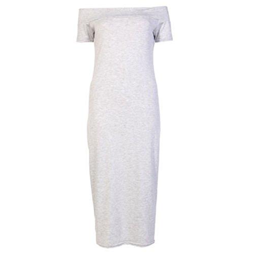 Fashion 4 Less - Robe - Manches Courtes - Femme Vert - Gris