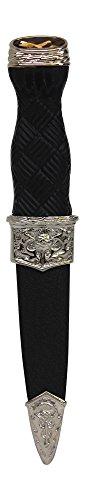 CBuyers Sgian Dubh-Sicherheits-Distel mit Antik-Chrom-Details – Nachbildung (Keine Klinge) Cairngorm