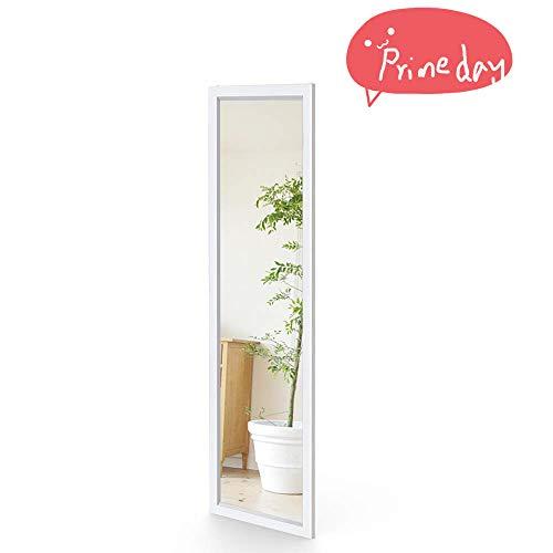 119 Wand (Dripex Wandspiegel 33x119cm Spiegel unbrechbarer Garderobenspiegel Flurspiegel höhenverstellbarer Hängespiegel mit Haken (Weiß))