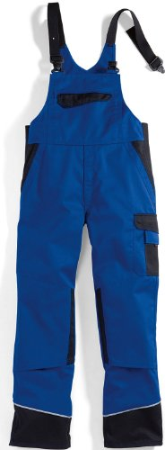 BP Workwear Arbeits-Latzhose Work & Wash - royal/schwarz - Größe: 54