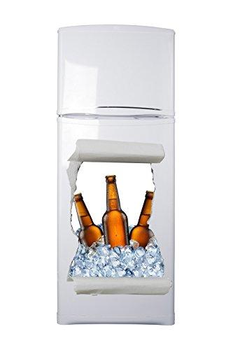 Pegatinas 3D Vinilo para Frigorífico Hueco Cerveza Varias Medidas 60x88cm | Adhesivo...
