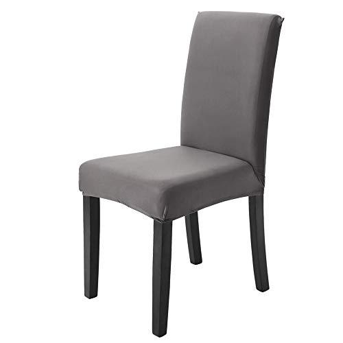 Vankoo coprisedie con schienale 4 pezzi moderna protettiva in elastico, lavabile sedia da pranzo sedile smontabile per la sala da pranzo mobili da cerimonia nuziale moderni, hotel, ristorante decor