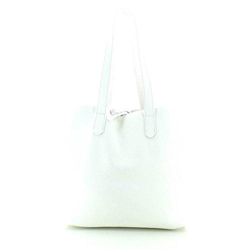 Patrizia Pepe borsa tote pelle 35 cm bianco