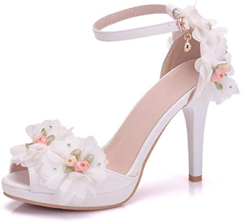 LBTSQ-bocca di pesce i i i sandali scarpe con una sola parola matrimonio scarpe sposa di scarpe fiori moda scarpe... | Di Alta Qualità  | Uomini/Donna Scarpa  522574