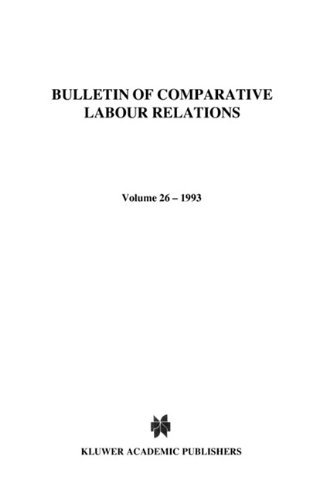 Industrial Relations In Small And Medium Sized Enterprises (Bulletin of Comparative Labour Relations Series) by Roger Blanpain (1993-05-18)