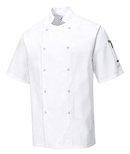Portwest C733 - Cumbria Veste de chef, XXL, blanc