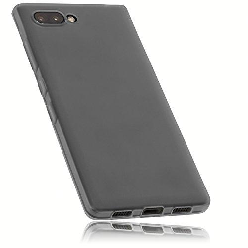 mumbi Hülle kompatibel mit BlackBerry Key2 Handy Case Handyhülle, transparent schwarz