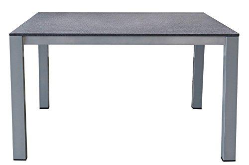 kynast exklusiv Aluminium Gartentisch 150x90 cm Spraystone Silber/anthrazit